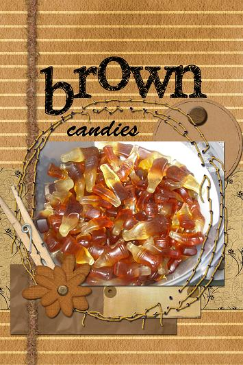brown candies 30