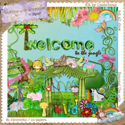 preview boutique digiscrap welcome to the jungle kit